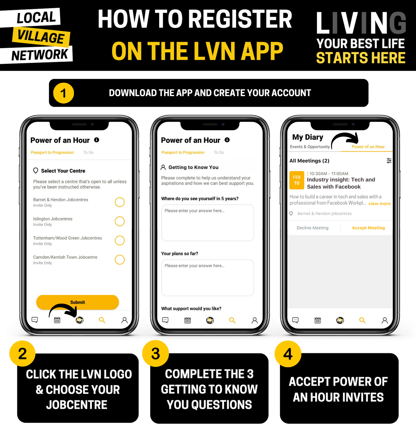 How to register on the LVN app