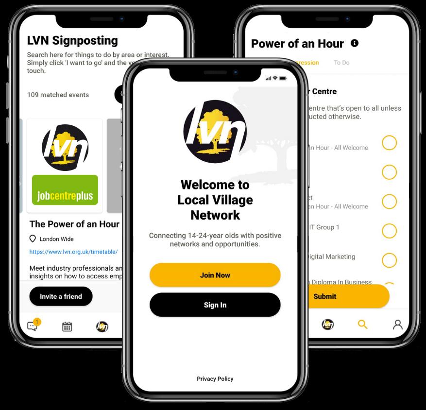 Download the LVN Signposting App